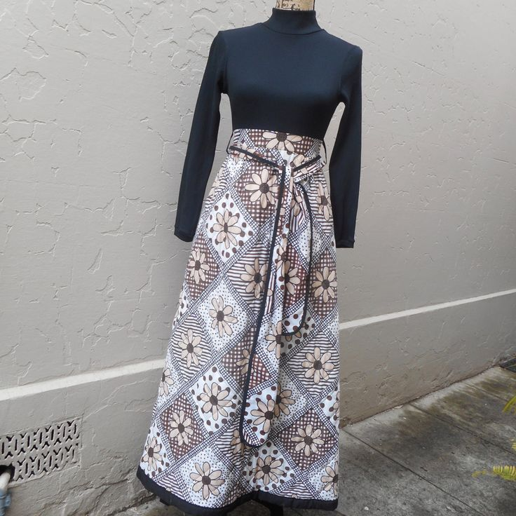 1960s Loungewear Maxi by recycology on Etsy