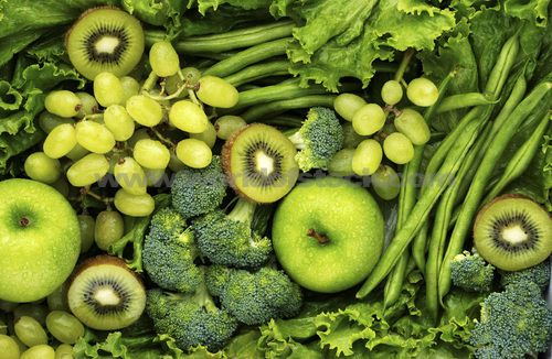 Green fruit and vegetables 2