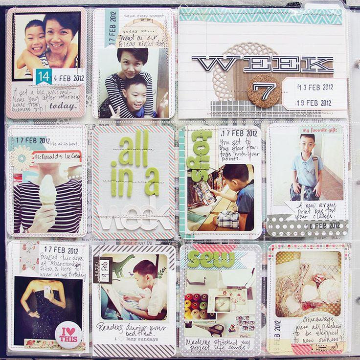 Project Life Week 7_Leena Loh  So inspired by Leena - make sure to visit her blog