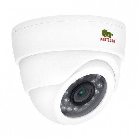"""Купольная видеокамера для наблюдения в металлическом корпусе. Технологии: AHD, аналоговая. Матрица: 1/4"""" Omnivision. Разрешение: 1280x720 пикс. (AHD-M), 1000 ТВЛ (в режиме аналога). Фокусное расстояние: 3,6 мм (угол обзора - 50°). Дальность ИК подсветки: до 25 метров. Индекс защиты IP55."""