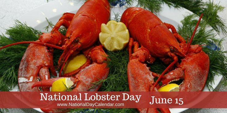 June 14 is National Lobster Day! Did you know that lobster was once considered peasant food? It was plentiful in New England. They could be easily captured during low tide.    To celebrate, eat a lobster beside your cascading water fountain from http://www.WATerstatues.com/Default.asp