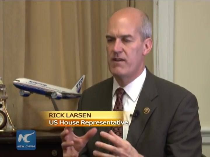 U.S. Congressman Rick Larsen says the United States and China, the world's two largest economies, should focus more on their broad cooperation instead of letting a single sensitive issue dominate the whole agenda.