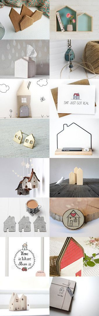 Home Sweet House by Esther Lagarde on Etsy--Pinned with TreasuryPin.com #SweetAndMellow #House