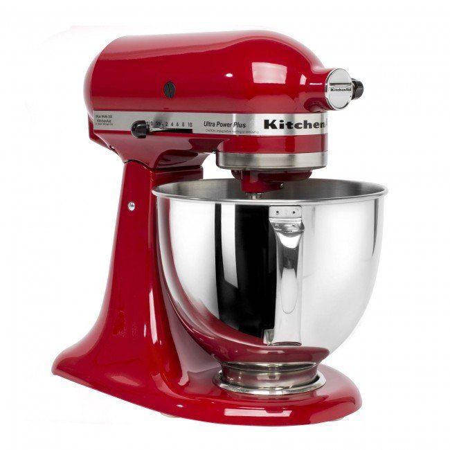 The KitchenAid Stand Mixer is the must have appliance for any kitchen. Great for beating, mixing and kneading dough, saving you time and effort on your kitchen tasks. With 300 watts of power, an 4.5 qt stainless steel bowl, 10-speed control and a mixing shield, you'll be ready to start mixing right out of the box.