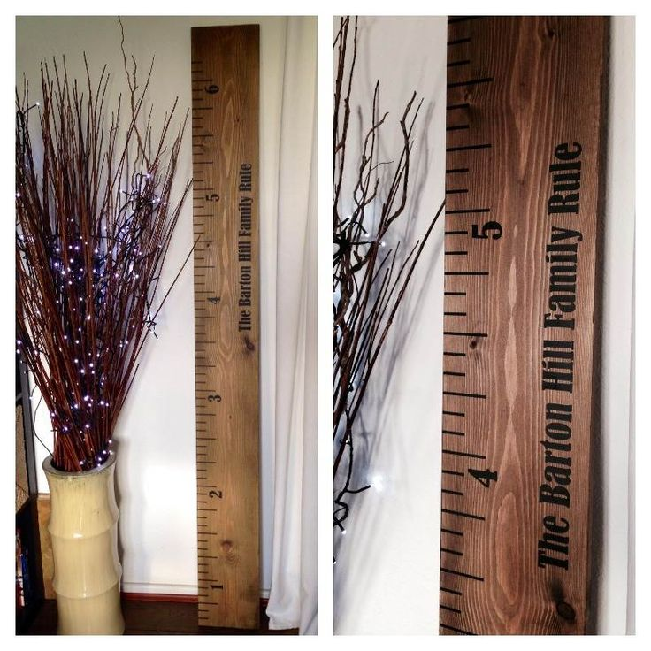 solid wooden kids height chart ruler