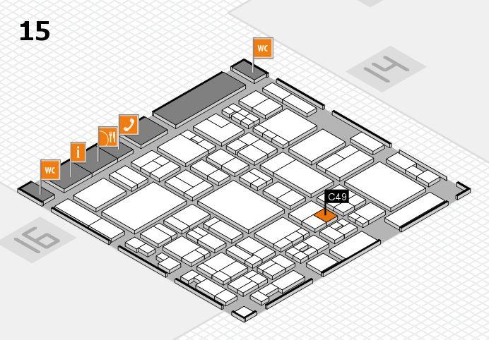 glasstec 2016 hall map (Hall 15): stand C49