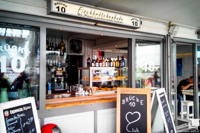 Fischbrötchen satt!  Hamburg kulinarisch: Brücke 10