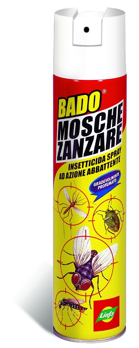 LINFA BADO MOSCHE E ZANZARE INSETTICIDA A SPRAY PER USO CIVILE ML. 400 https://www.chiaradecaria.it/it/insetticidi-uso-civile/10058-linfa-bado-mosche-e-zanzare-insetticida-a-spray-per-uso-civile-ml-400-8014815011184.html