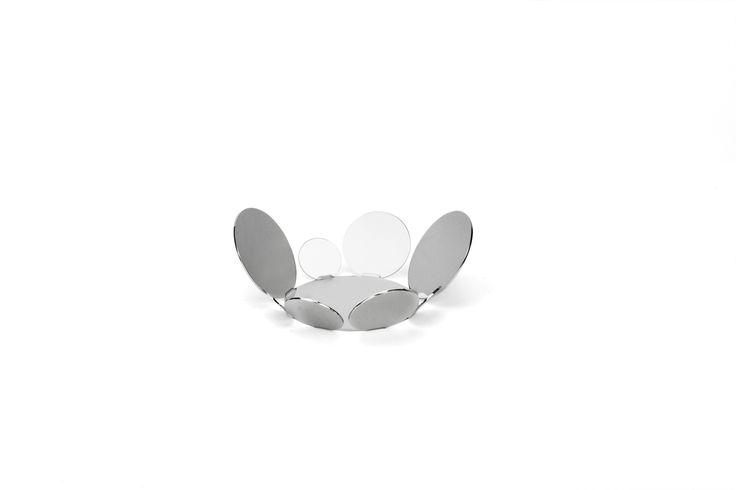 5.12 inch fruit bowl in stainless steel grade 18/10 by Elleffe Design