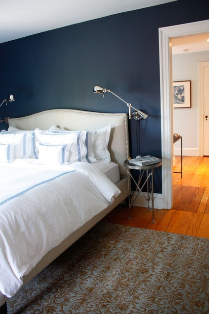 Hale Navy by Benjamin Moore Great bedroom color. I have always loved navy