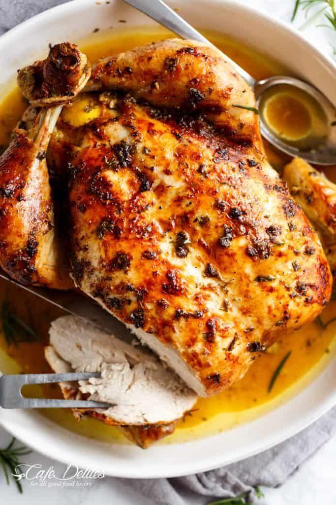 Garlic Herb Butter Roast Chicken Cafe Delites Whole Chicken Recipes Oven Oven Chicken Recipes Roast Chicken Recipes