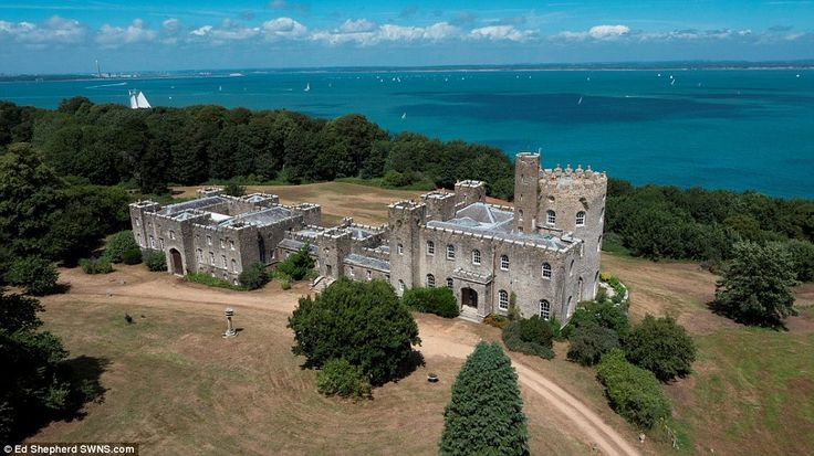 Spectacular: Norris Castle, on the Isle of Wight, is on the market for the first time in 60 years for just £1million - the same price as a two-bedroom council flat in London