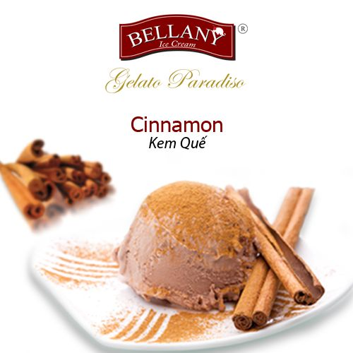 One special ingredient of Bellany CINNAMON icecream is passionate cinnamon flavour which is extracted from pure cinnamon in the north of Vietnam.This flavour will be ideally blended with hot caramel apple pie, hot lava cake and butterscotch biscuits. #cinnamonicecream #kemque #bellany #kemcaocap, #premiumicecream, #besticecream