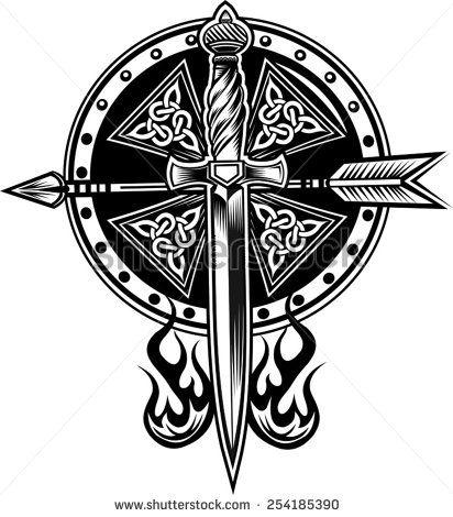 Celtic Shield Tattoo Designs