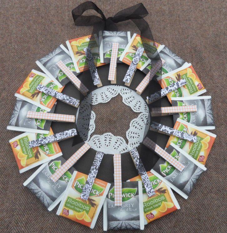 Teabag wreath - theekransje