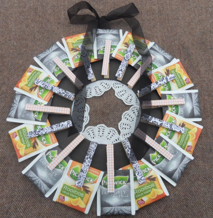 Teabag wreath - theekransje