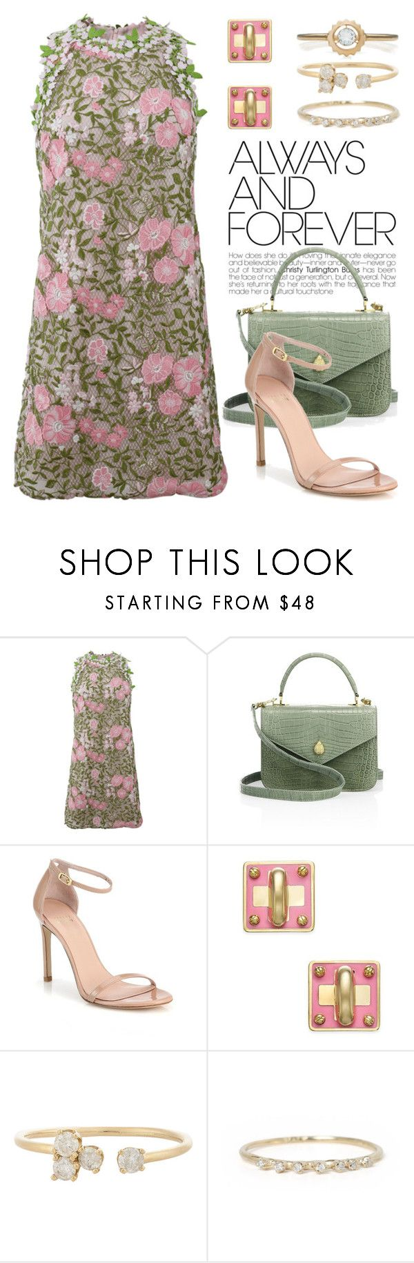 """""""Floral Printed Dress 2900"""" by boxthoughts ❤ liked on Polyvore featuring Giambattista Valli, Ethan K, Stuart Weitzman, Marc by Marc Jacobs, Loren Stewart and Zoe & Morgan"""
