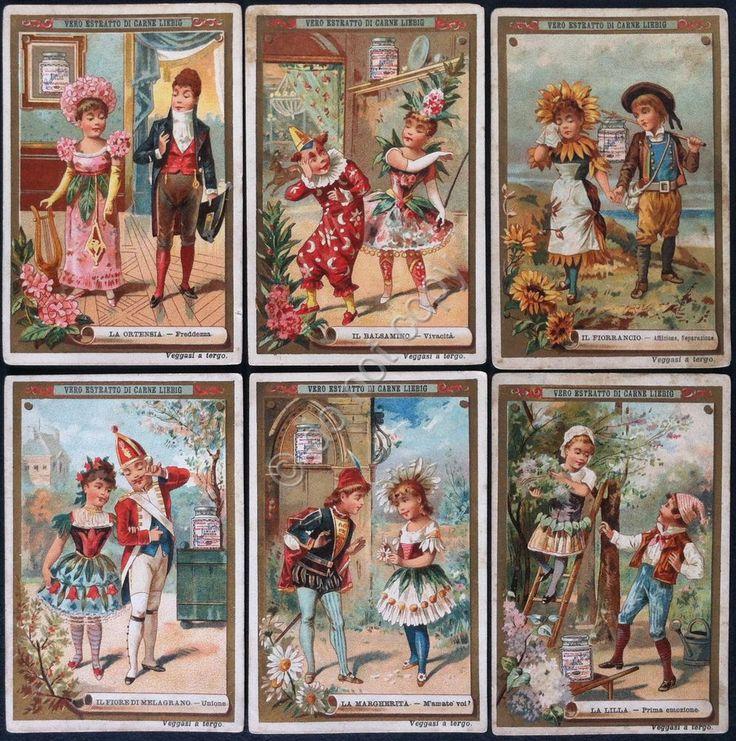 Figurine Liebig - Italia - Sang. 274 - Linguaggio dei fiori 2° - 1890