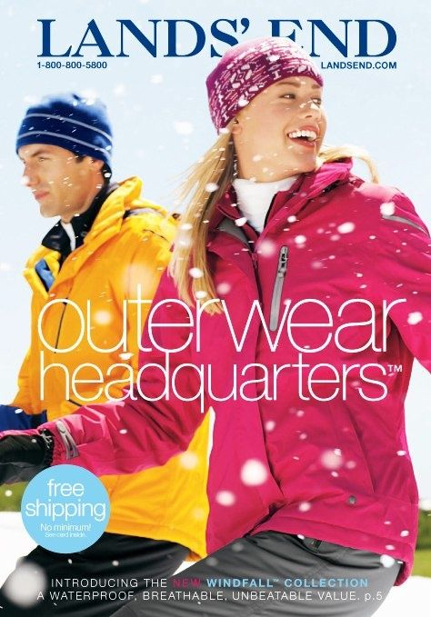 Lands End Winter Catalog Lands End Catalog Shopping