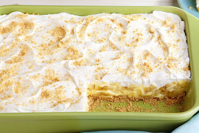 Our Savannah Banana Pudding gets its creamy deliciousness from PHILADELPHIA Cream Cheese, JELL-O Vanilla Flavor Instant Pudding and a COOL WHIP topping.
