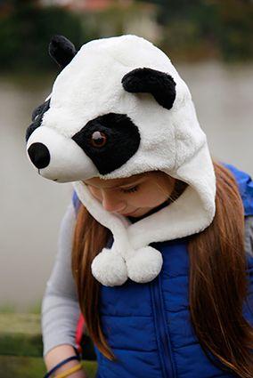 Panda tasarımlı pelüş şapka / Panda design hat