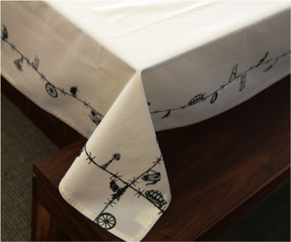 Our Karoo Table Cloth - natural cotton with symbols and patterns from South Africa's vast Karoo. #decor #cotton #natural #table