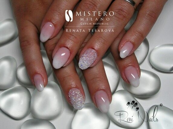 #nails #babyboomer #nailart #nehty #gelovenehty #weddingnails