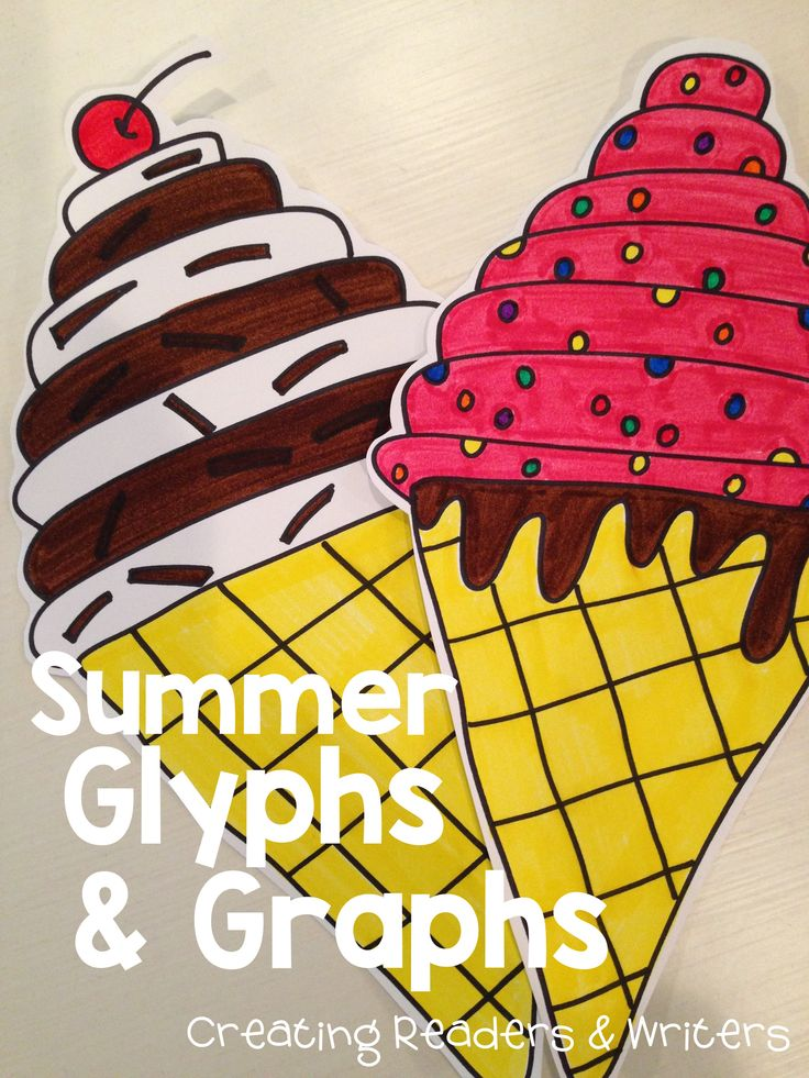 Combine math and art with these summer-themed glyphs and graphing activities. They begin with directed drawings and then include sheets to help children collect, graph, and analyze class data. (Grades 1-4, $) #endoftheyear