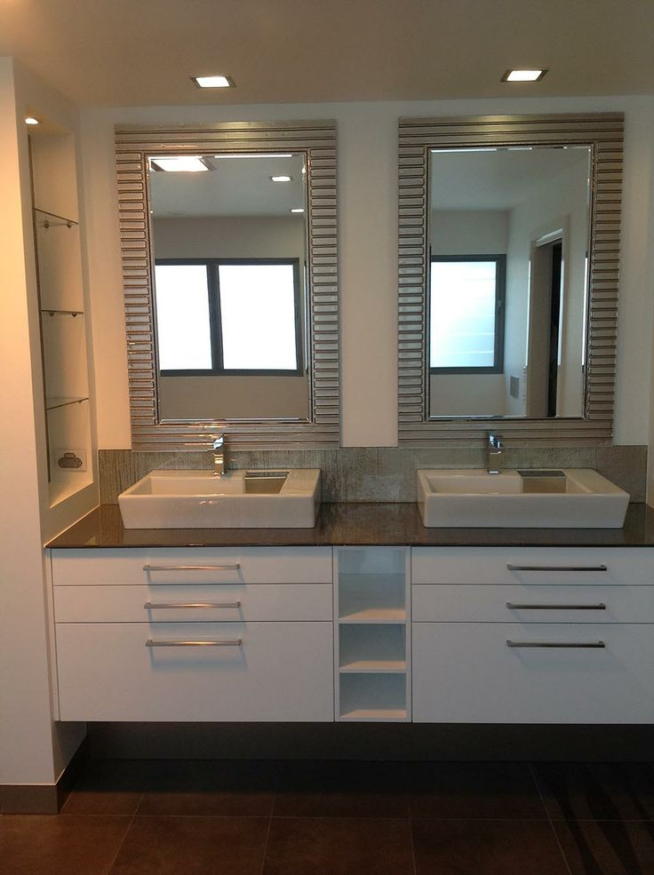 Slumped glass mirror frames - Glass Xpressions, located in Molendinar, Queensland - http://www.glassxpressions.com.au/