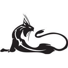 Скачать бесплатно векторный клипарт кошки, коты. Стильные векторные картинки кошки, коты. Готовые эскизы татуировок кошки, наклейки на авто кошки, коты.