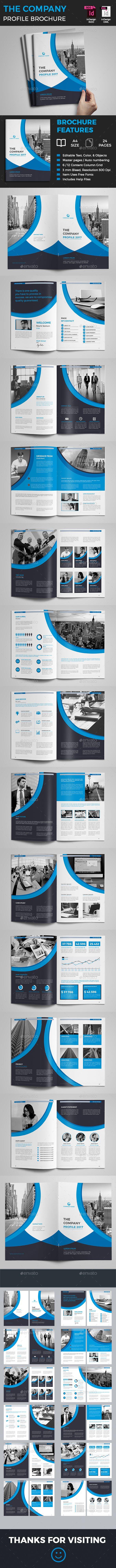 Company Profile Brochure - #Corporate #Brochures Download here: https://graphicriver.net/item/company-profile-brochure/19274603?ref=alena994