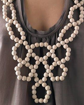 The Southern Eclectic: Wooden-Circle Bib Necklace