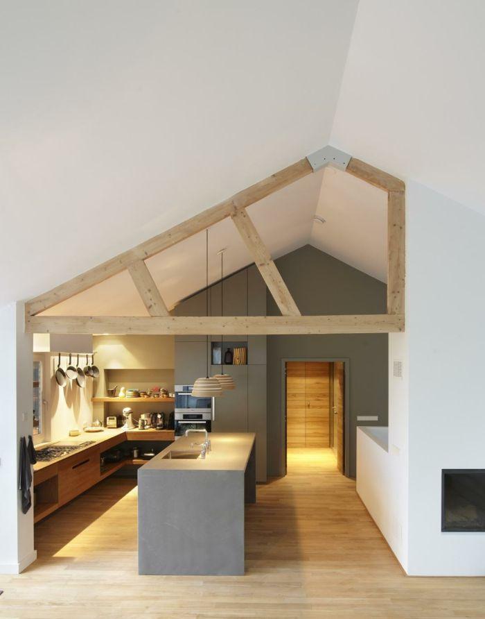 die besten 25 k che dachschr ge ideen auf pinterest k cheneinrichtung dachschr ge alte k che. Black Bedroom Furniture Sets. Home Design Ideas
