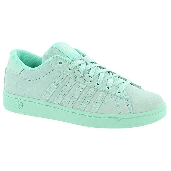 K Swiss Hoke SDE CMF Women's Blue Sneaker 7 M ($60) ❤ liked on Polyvore featuring shoes, sneakers, blue, blue color shoes, blue shoes, k swiss footwear, blue trainers and k swiss trainers