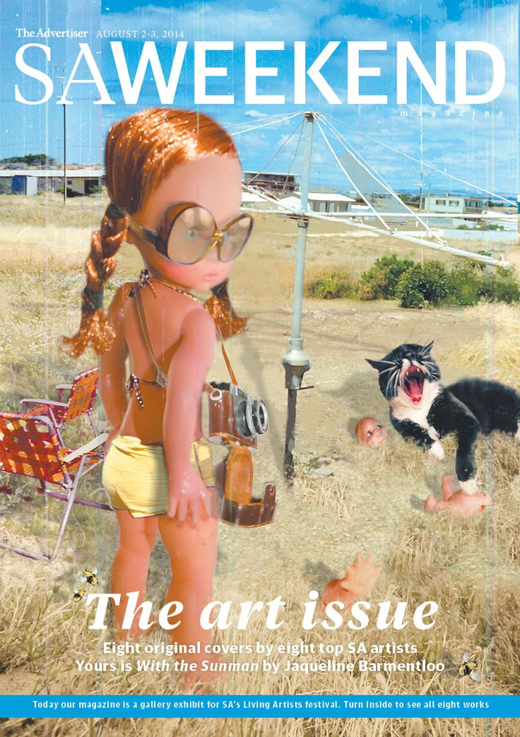 SA Weekend Magazine, August 2, 2014 Art Issue. One of eight different covers designed by South Australian artists.  #Adelaide #SA #cover