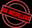 No Installers