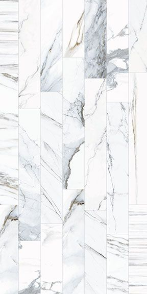 Ceramica Colli - Scot White Scot has taken different kinds of marble veining patterns combining and mixing the images onto 6 x 36 planks to create a new and modern interpretation. Each color in this Italian inkjet glazed porcelain series includes veining patterns from various marbles within each color's range. The result is a rich mix of graphics and tones that conveys a striking effect when installed due to the multi-directional movement of the veins.