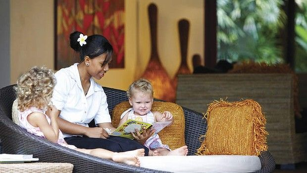 Babysitting at Nanuku. Truly, this is the best new luxury family-friendly resort we have come across. highly recommended.