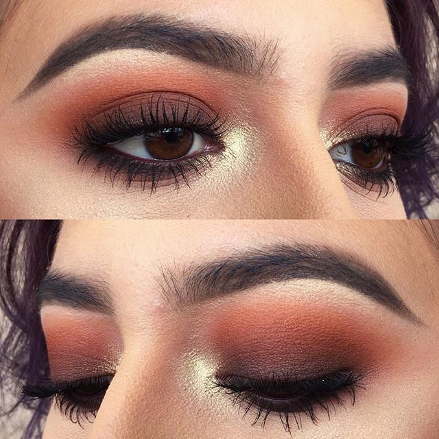 Ojos from yesterday! Si hablo español Details: Makeupgeek Peach Smoothie…
