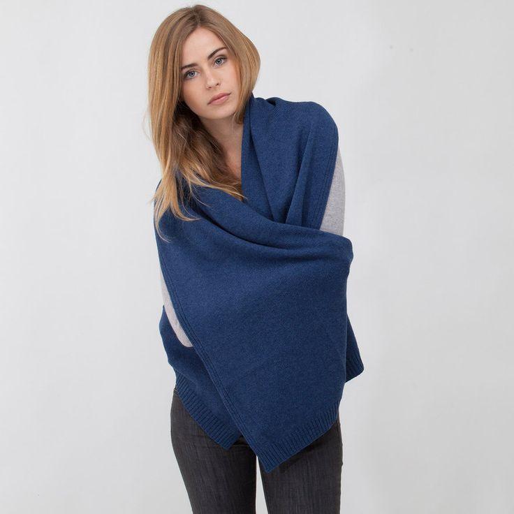 Etole bleu denim tricotée cachemire artabancachemire
