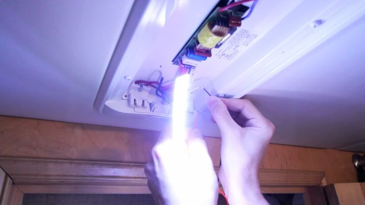 how to convert fluorescent rv lights to leds for the rv pinterest. Black Bedroom Furniture Sets. Home Design Ideas