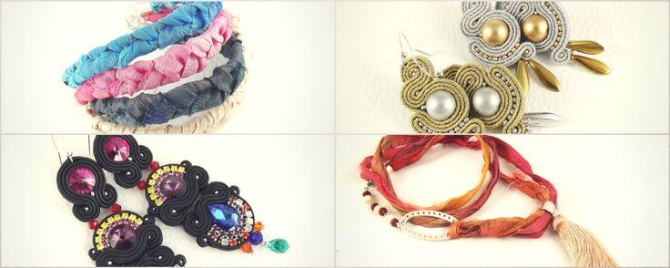 Pejotka - soutache handmade earrings sari bracelt necklace