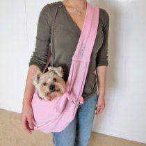 Alfie Couture Designer Pet Accessory - Chico Reversible Pet Sling Carrier - Color: Pink