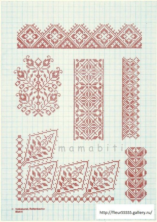 Gallery.ru / Фото #1 - 35 - Fleur55555. From what appears to be an old German folk cross stitch book. The other pages are also available.