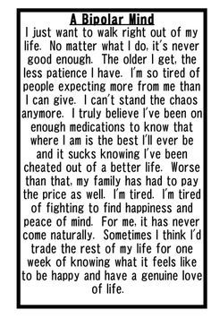 I used to think this way. I'm blessed with my new medications.