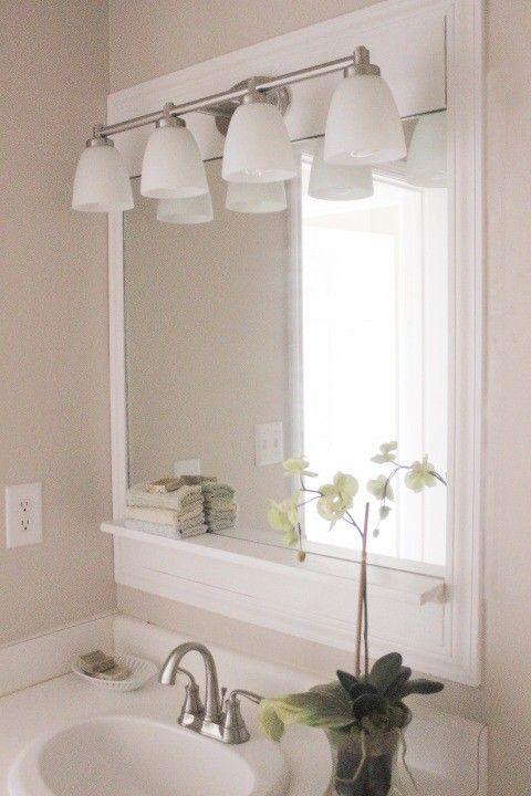 15 diy vanity mirrors for a custom look in 2020 bathroom on custom bathroom vanity mirrors id=33432
