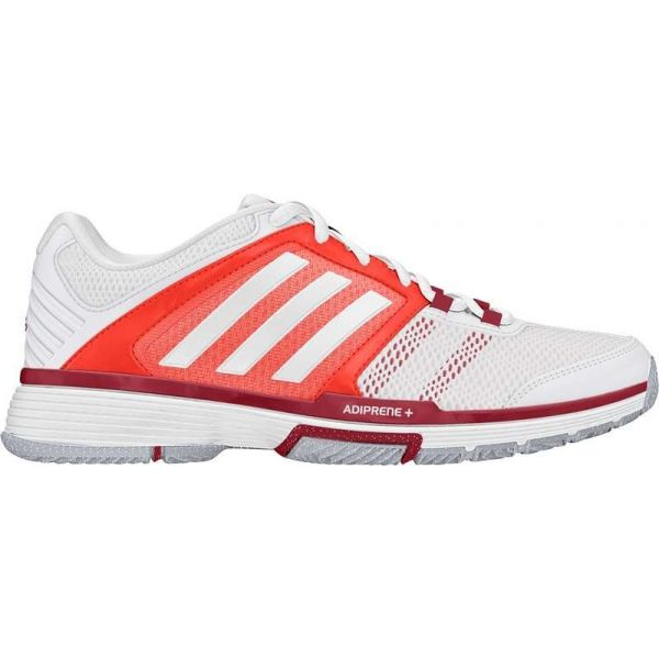 Adidas Women\u0027s Barricade Team 4 Tennis Shoes (White/Solar Red)