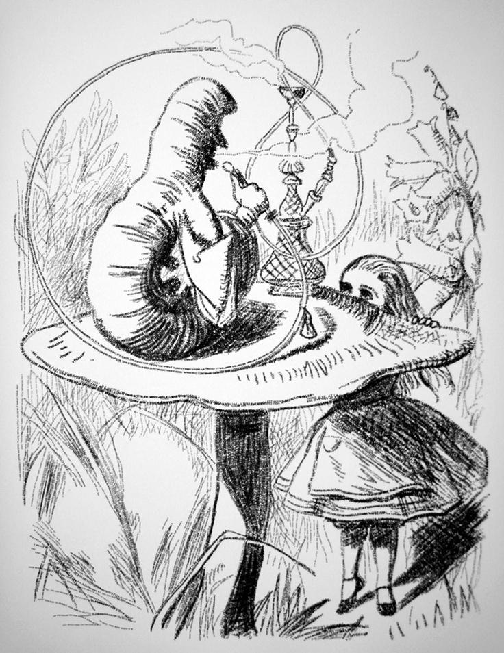 иллюстрации джона тенниела к алисе в стране чудес композиция обращена