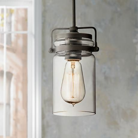 This refined industrial mini pendant light will complement a streamlined decor with a contemporary style.