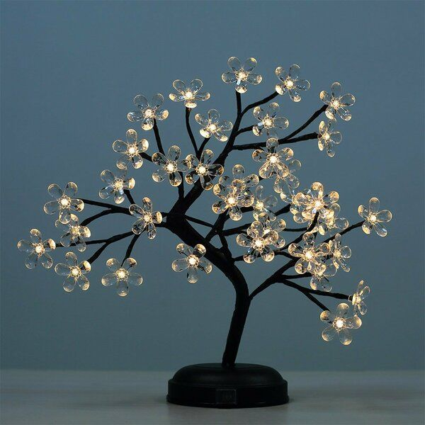 Crystal Flower Bonsai Tree 36 Light Led Battery Lighted Tree In 2021 Lighted Tree Branches Lighted Branches Starburst Light